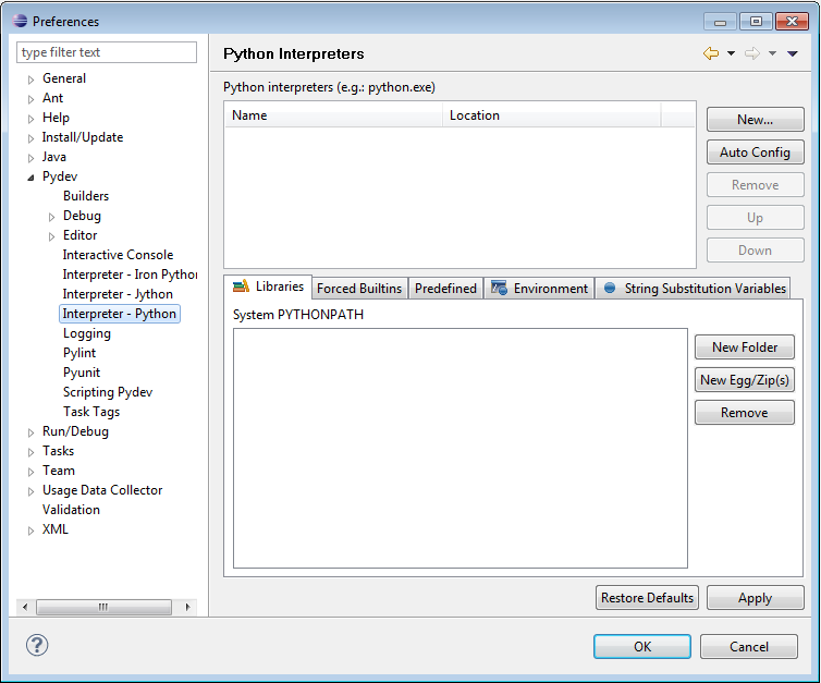 pydev configure eclipse