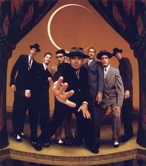 Big Bad Voodoo Daddy on stage.
